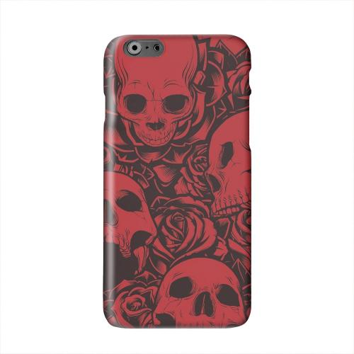 Skulls Rose Red/ Black Solid White Hard Case Cover for Apple iPhone 6 PLUS/6S PLUS (5.5 inch)