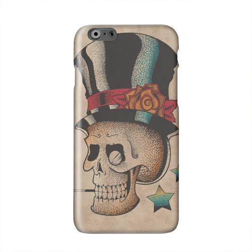 Smoking Skull Solid White Hard Case Cover for Apple iPhone 6 PLUS/6S PLUS (5.5 inch)