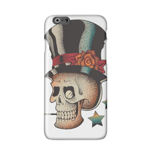 Smoking Skull on White Solid White Hard Case Cover for Apple iPhone 6 PLUS/6S PLUS (5.5 inch)