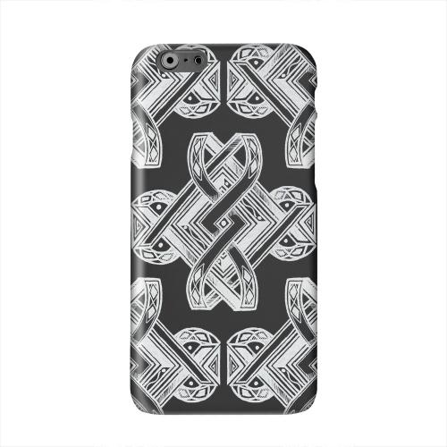 Tribal Art on Black Solid White Hard Case Cover for Apple iPhone 6 PLUS/6S PLUS (5.5 inch)