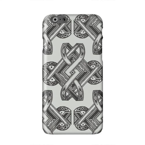 Tribal Art on Gray Solid White Hard Case Cover for Apple iPhone 6 PLUSApple iPhone 6 PLUS/6S PLUS (5.5 inch)