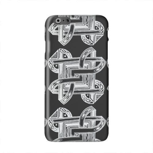 Tribal Art Pattern on Black Solid White Hard Case Cover for Apple iPhone 6 PLUS/6S PLUS (5.5 inch)
