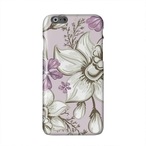 White and Violet Orchids Solid White Hard Case Cover for Apple iPhone 6 PLUS/6S PLUS (5.5 inch)
