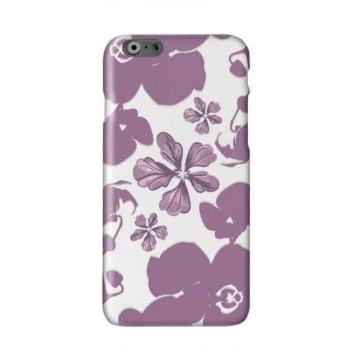 Purple Orchids Solid White Hard Case Cover for Apple iPhone 6 PLUS/6S PLUS (5.5 inch)