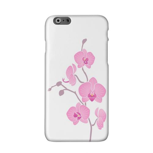Pink Minimal Orchid Art Solid White Hard Case Cover for Apple iPhone 6 PLUS/6S PLUS (5.5 inch)