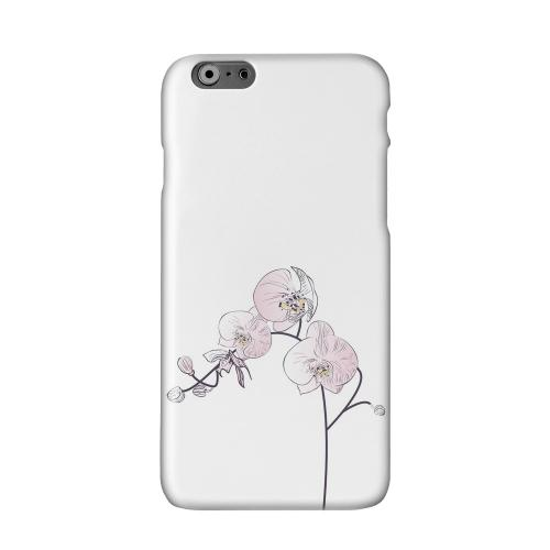 Lonely Orchid Solid White Hard Case Cover for Apple iPhone 6 Plus