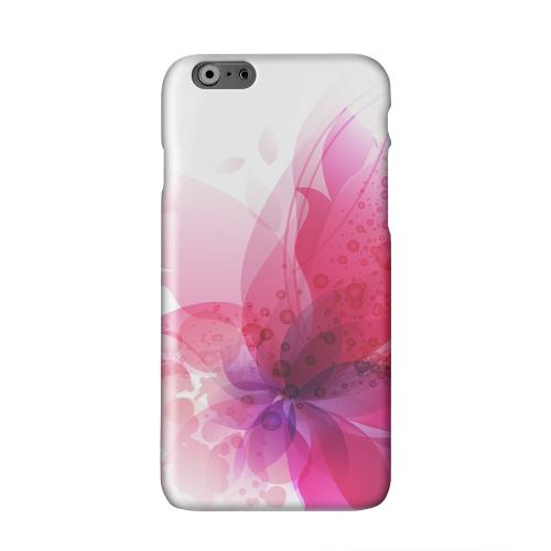 Hot Pink Orchid Swoosh Fade Solid White Hard Case Cover for Apple iPhone 6 Plus