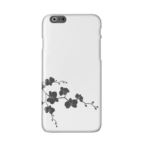 Clean Solid Black Orchid Art Solid White Hard Case Cover for Apple iPhone 6 Plus