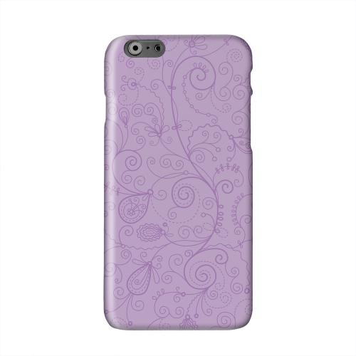 Floral 1 African Violet Solid White Hard Case Cover for Apple iPhone 6 Plus