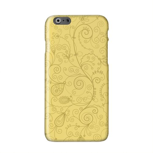 Floral 1 Lemon Zest Solid White Hard Case Cover for Apple iPhone 6 Plus