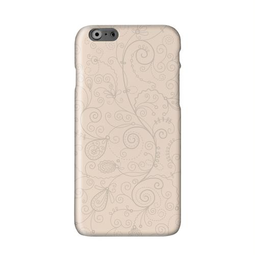 Floral 1 Linen Solid White Hard Case Cover for Apple iPhone 6 Plus