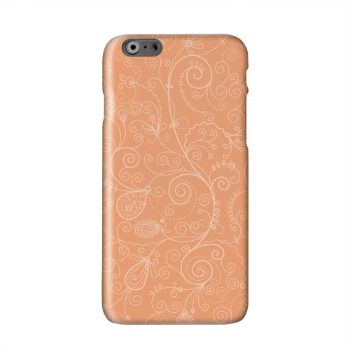Floral 1 Nectarine Solid White Hard Case Cover for Apple iPhone 6 Plus