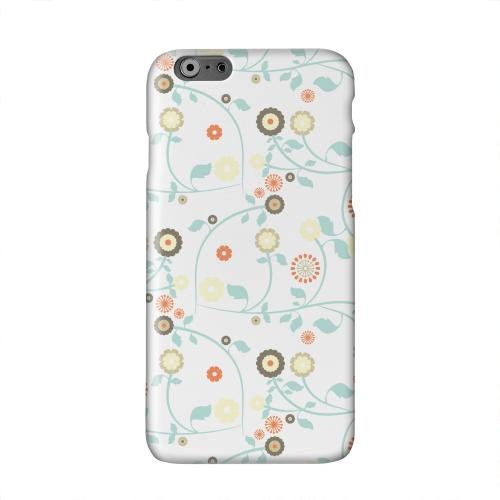 Floral 2 Multi-colored Solid White Hard Case Cover for Apple iPhone 6 PLUS/6S PLUS (5.5 inch)