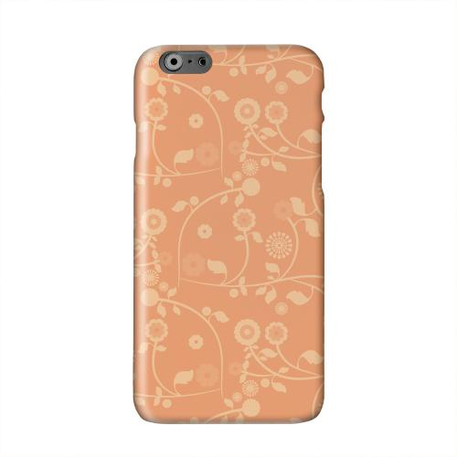 Floral 2 Nectarine Solid White Hard Case Cover for Apple iPhone 6 PLUS/6S PLUS (5.5 inch)