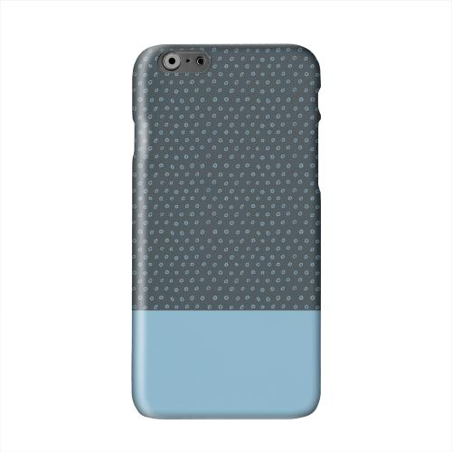 Little Circle Dots Dusk Blue Solid White Hard Case Cover for Apple iPhone 6 PLUS/6S PLUS (5.5 inch)