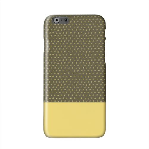 Little Circle Dots Lemon Zest Solid White Hard Case Cover for Apple iPhone 6 PLUS/6S PLUS (5.5 inch)