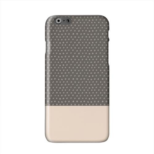 Little Circle Dots Linen Solid White Hard Case Cover for Apple iPhone 6 PLUS/6S PLUS (5.5 inch)