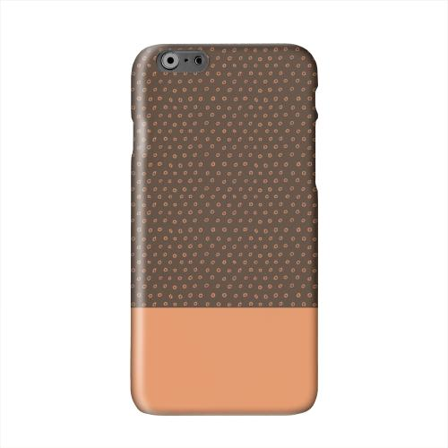 Little Circle Dots Nectarine Solid White Hard Case Cover for Apple iPhone 6 PLUS/6S PLUS (5.5 inch)