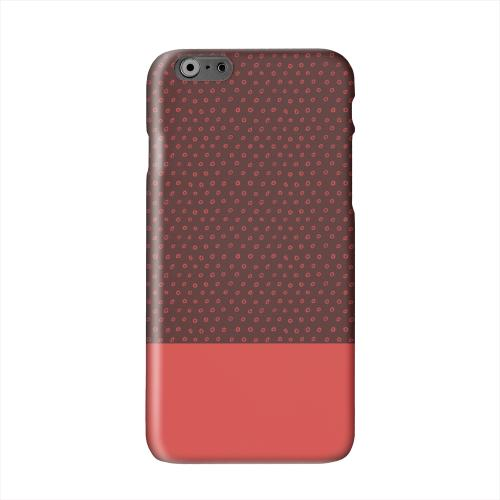 Little Circle Dots Poppy Red Solid White Hard Case Cover for Apple iPhone 6 PLUS/6S PLUS (5.5 inch)