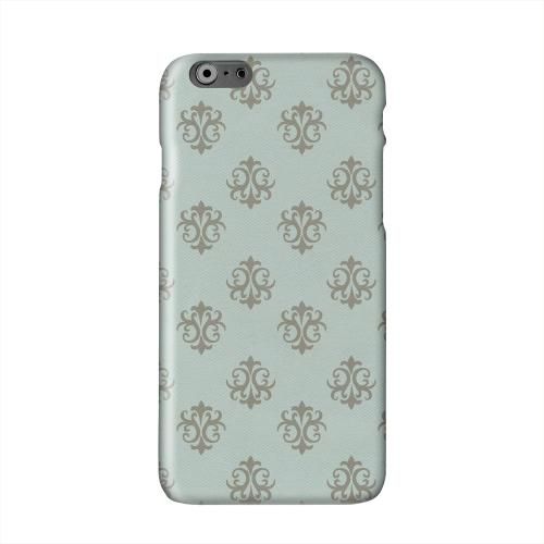 Ornamental Dusk Blue Solid White Hard Case Cover for Apple iPhone 6 PLUS/6S PLUS (5.5 inch)