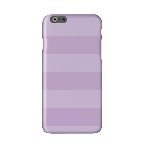 Stripes African Violet Solid White Hard Case Cover for Apple iPhone 6 PLUS/6S PLUS (5.5 inch)