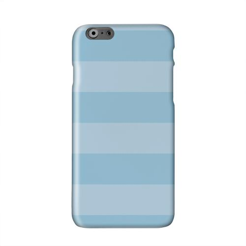 Stripes Dusk Blue Solid White Hard Case Cover for Apple iPhone 6 PLUS/6S PLUS (5.5 inch)