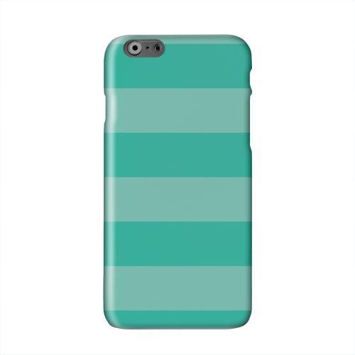Stripes Emerald Solid White Hard Case Cover for Apple iPhone 6 PLUS/6S PLUS (5.5 inch)