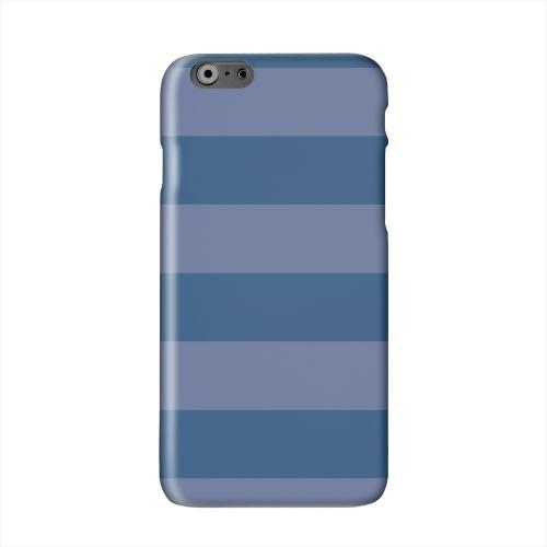 Stripes Monaco Blue Solid White Hard Case Cover for Apple iPhone 6 PLUS/6S PLUS (5.5 inch)