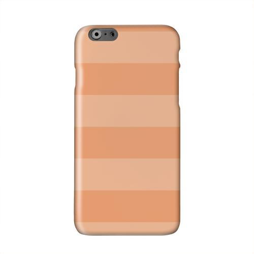 Stripes Nectarine Solid White Hard Case Cover for Apple iPhone 6 PLUS/6S PLUS (5.5 inch)