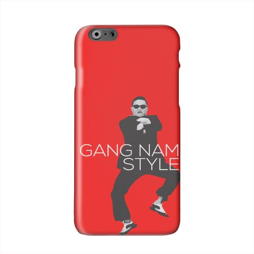 Red Gangnam Style Solid White Hard Case Cover for Apple iPhone 6 PLUS/6S PLUS (5.5 inch)