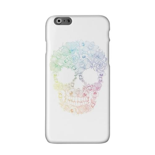 Floral Rainbow Skull on White Solid White Hard Case Cover for Apple iPhone 6 PLUS/6S PLUS (5.5 inch)
