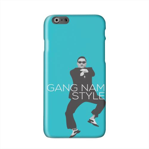 Teal Gangnam Style Solid White Hard Case Cover for Apple iPhone 6 PLUS/6S PLUS (5.5 inch)