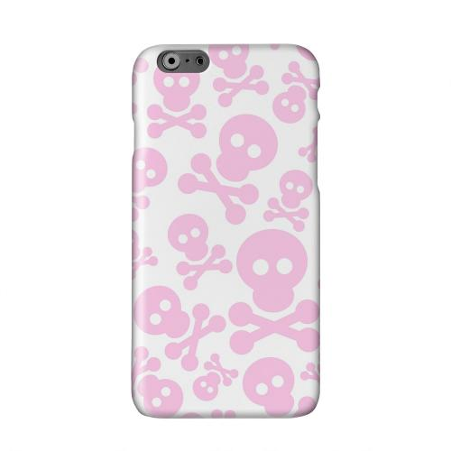 Skull Face Invasion Pink on White Solid White Hard Case Cover for Apple iPhone 6 PLUS/6S PLUS (5.5 inch)