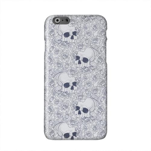 Thorn Skull Blue Halftone Solid White Hard Case Cover for Apple iPhone 6 PLUS/6S PLUS (5.5 inch)