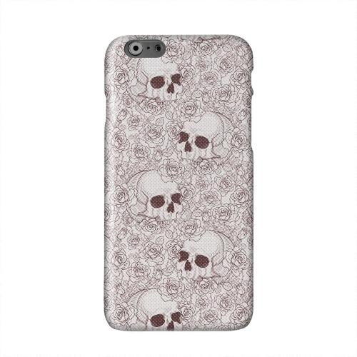 Thorn Skull Red Halftone Solid White Hard Case Cover for Apple iPhone 6 PLUS/6S PLUS (5.5 inch)