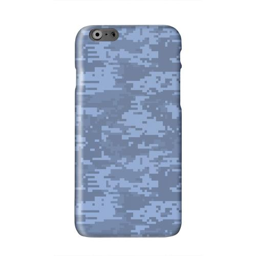 Blue Digital Camouflage Solid White Hard Case Cover for Apple iPhone 6 PLUS/6S PLUS (5.5 inch)