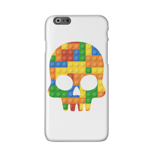 Blocks Skull Solid White Hard Case Cover for Apple iPhone 6 PLUS/6S PLUS (5.5 inch)