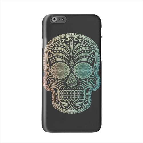 Dia De Los Muertos Blue Red Fade Solid White Hard Case Cover for Apple iPhone 6 PLUS/6S PLUS (5.5 inch)