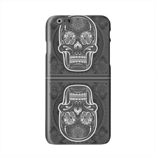Domino Double Skull Solid White Hard Case Cover for Apple iPhone 6 PLUS/6S PLUS (5.5 inch)