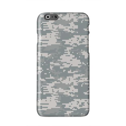 Gray Digital Camouflage Solid White Hard Case Cover for Apple iPhone 6 PLUS/6S PLUS (5.5 inch)