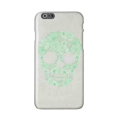 Floral Green Skull on Canvas Solid White Hard Case Cover for Apple iPhone 6 PLUS/6S PLUS (5.5 inch)