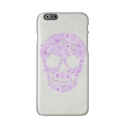 Floral Violet Skull on Canvas Solid White Hard Case Cover for Apple iPhone 6 PLUS/6S PLUS (5.5 inch)