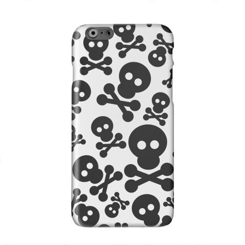 Skull Face Invasion Black on White Solid White Hard Case Cover for Apple iPhone 6 PLUS/6S PLUS (5.5 inch)