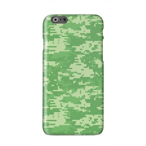 Green Digital Camouflage Solid White Hard Case Cover for Apple iPhone 6 PLUS/6S PLUS (5.5 inch)