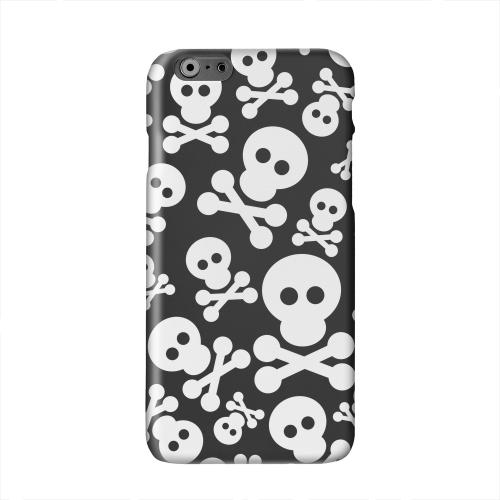 Skull Face Invasion White on Black Solid White Hard Case Cover for Apple iPhone 6 PLUS/6S PLUS (5.5 inch)