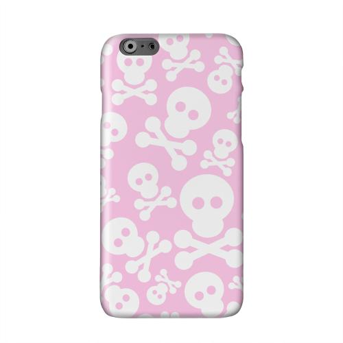Skull Face Invasion White on Pink Solid White Hard Case Cover for Apple iPhone 6 PLUS/6S PLUS (5.5 inch)