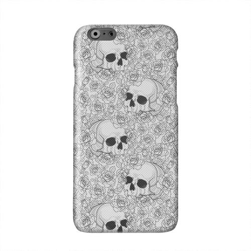 Thorn Skull Black White Halftone Solid White Hard Case Cover for Apple iPhone 6 PLUS/6S PLUS (5.5 inch)