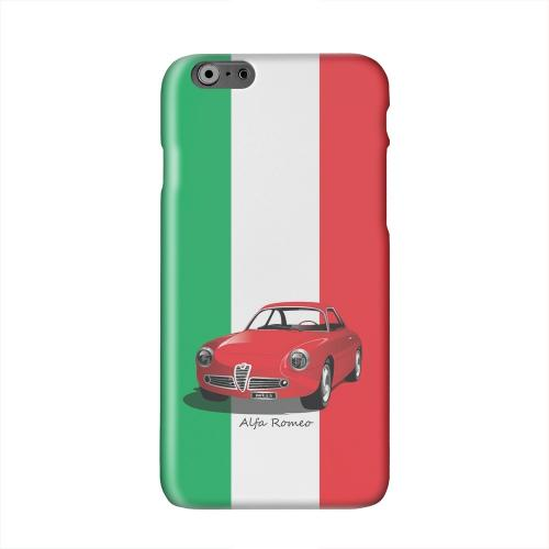 Red Alfa Romeo on Green/ White/ Red Solid White Hard Case Cover for Apple iPhone 6 PLUS/6S PLUS (5.5 inch)