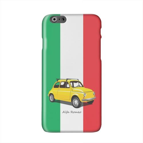 Yellow Alfa Romeo on Green/ White/ Red Solid White Hard Case Cover for Apple iPhone 6 PLUS/6S PLUS (5.5 inch)