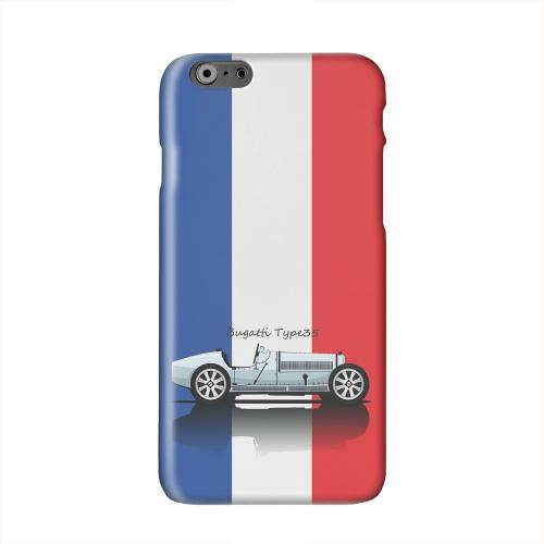 Bugatti Type 35S on Blue/ White/ Red Solid White Hard Case Cover for Apple iPhone 6 PLUS/6S PLUS (5.5 inch)